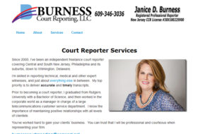Web Design - Burness Court Reporting